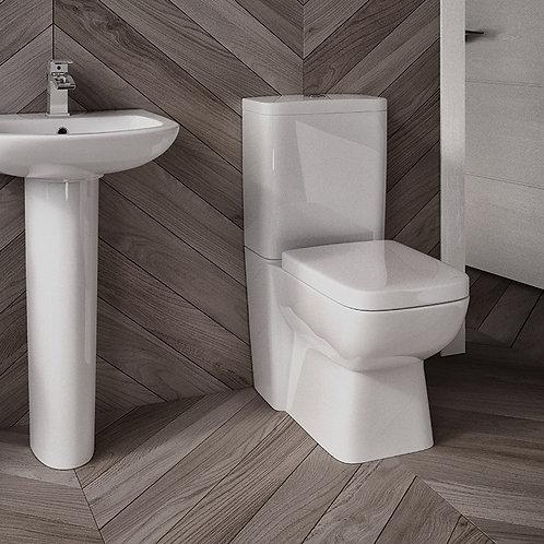 Parma Fully BTW Toilet Pan, Cistern & Seat