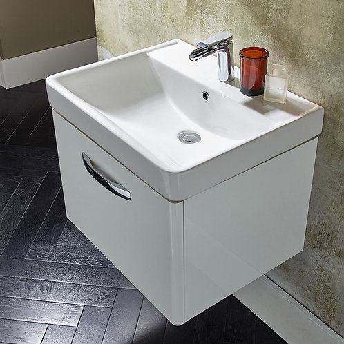 Compass Wall Hung Vanity Unit White
