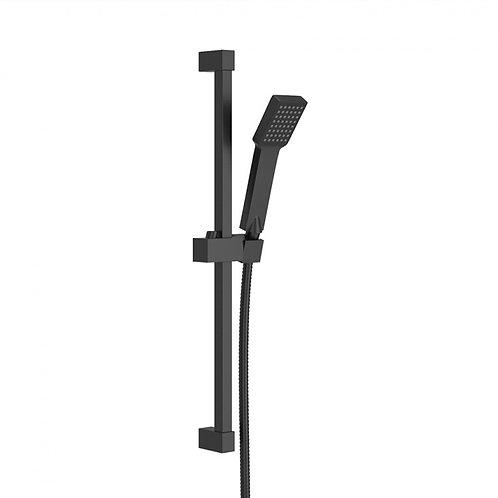 Quadro Black Slide Rail Concealed Shower Kit