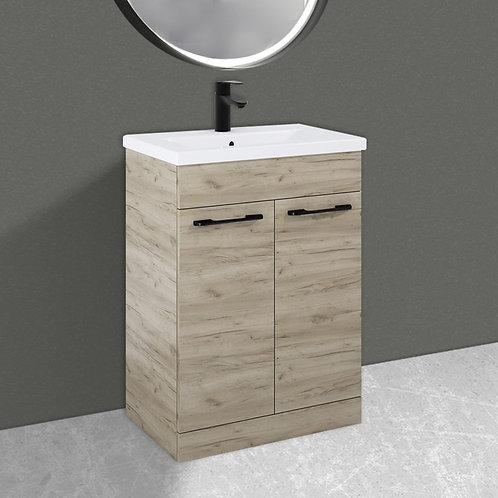 Porto Craft Oak 600mm Vanity Unit