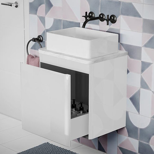Rivo White Wall Hung Vanity Unit With White Countertop