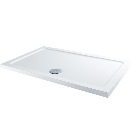 1700 White Rectangle Slimline Shower Tray