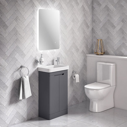 Arco 500mm 2 Door Floor Vanity Unit Anthracite