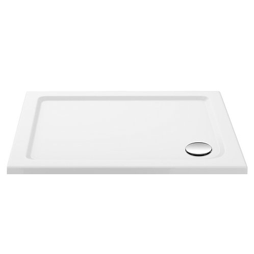 900 White Rectangle Slimline Shower Tray