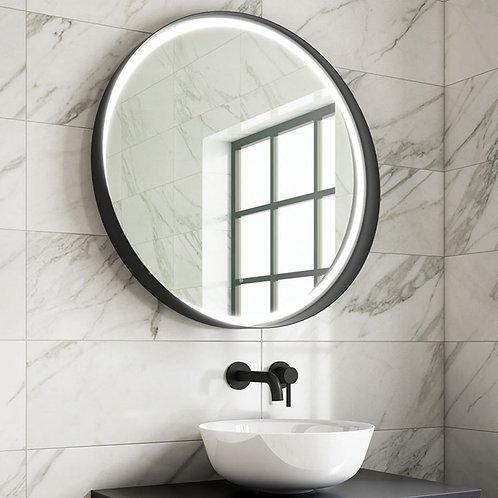 Marino LED Mirror Black Frame 800mm