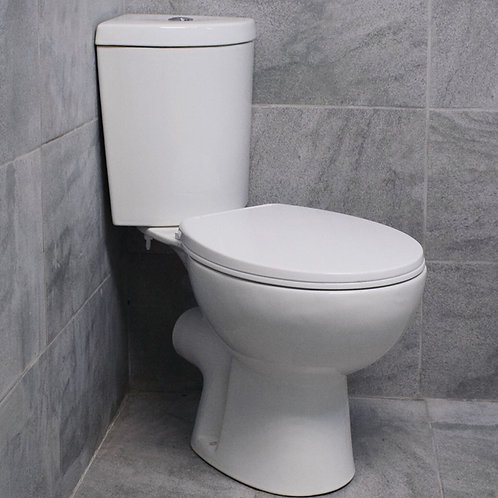 Strata Close Coupled Corner Toilet and Soft Close Seat