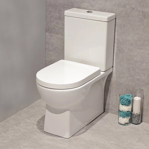 Denver Fully Shrouded Toilet and Soft Close Seat