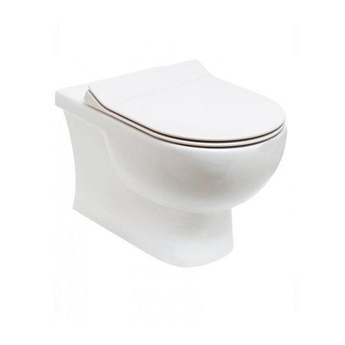 Tonique Wall Hung Rimless Toilet & Slim Soft Close Seat