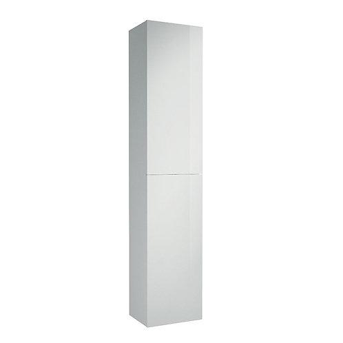 Siena White 2 Drawer Tall Boy Vanity Unit