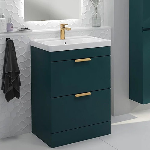 Stockholm Ocean Blue Freestanding Vanity Unit