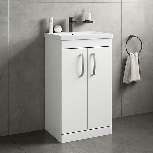 Athena 500mm White Freestanding Vanity Unit
