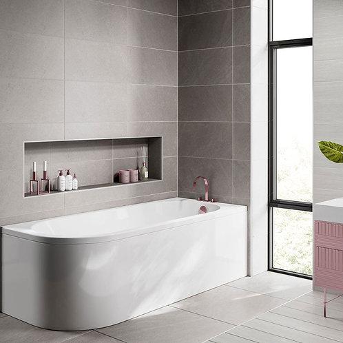 Tritan 1700 J shaped Bath