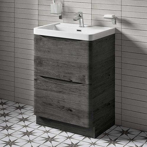Sorena Floorstanding Vanity Unit Cyan Oak