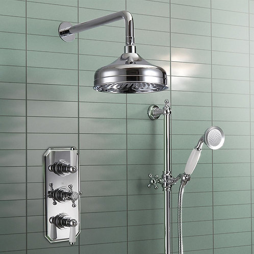 Oxford Complete Thermostatic Concealed Shower Kit