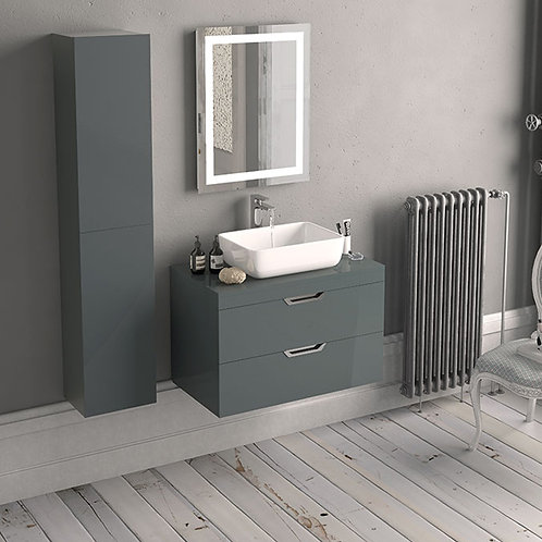 Nato 600mm Wall Vanity Unit Anthracite