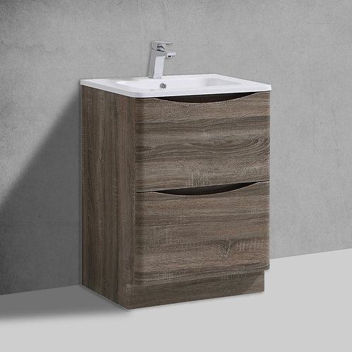 Sofia Cyan Oak Freestanding Vanity Unit