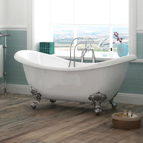 Charlotte 1760mm Double Slipper Freestanding Bath