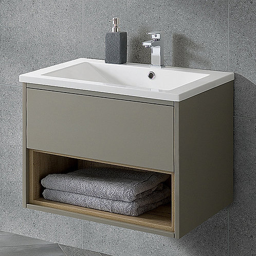 Lucca 600mm Wall Hung Vanity Unit Taupe