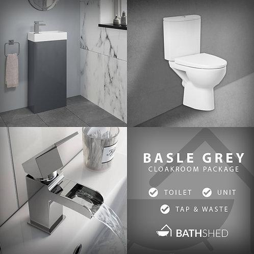 Basle Grey Cloakroom Suite