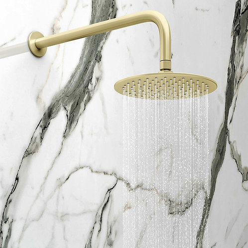 Oro Brushed Brass Concealed Shower Kit