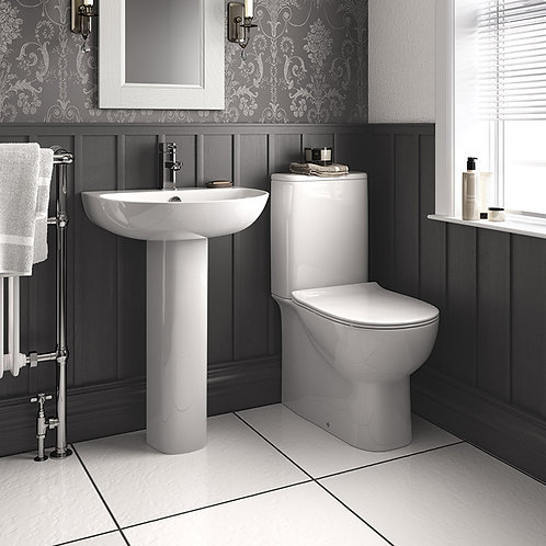 Cosmo Toilet & 550mm Basin Suite