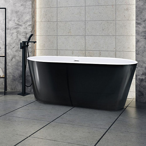 Signature Matt Black Freestanding Bath 1700mm