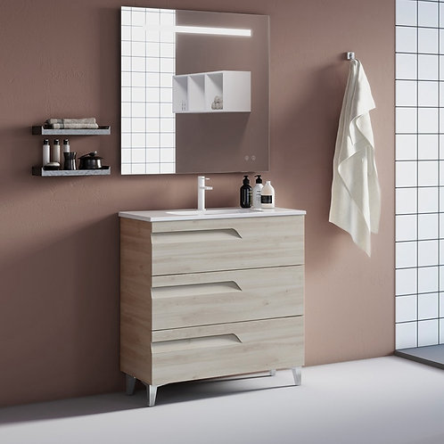 Brava Nature White Freestanding Vanity Unit