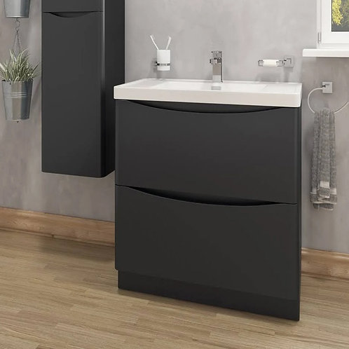 Sorena Floorstanding Vanity Unit Lead Grey