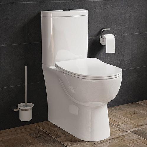 Porvo Fully BTW Toilet Pan, Cistern & Seat