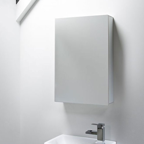 Hampton 1 Door Mirror Cabinet 400mm White
