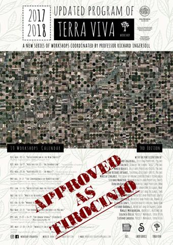 """Terra Viva Credits CFU"" APPROVED AS TIROCINIO/INTERNSHIP by the Architecture School of Po"