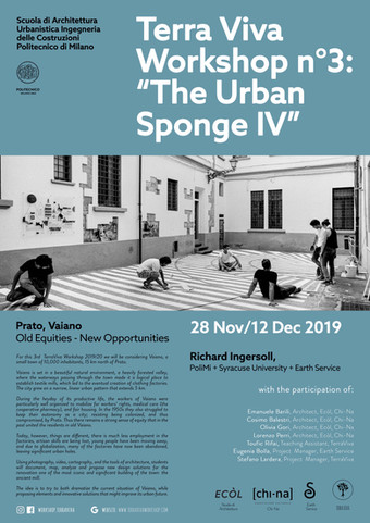 "APPLICATION OPEN | ""The Urban Sponge IV"" | Prato/Florence + Milan"