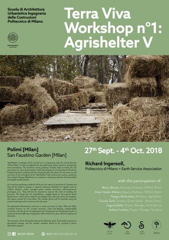 """AGRIshelter V"" | Terra Viva Workshop n°1 | Milan | September 2018"