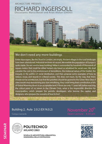 """We Don't Need Any More Buildings"" 