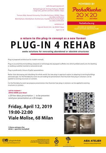 Plug-In 4 REHAB powered by PechaKucha   M^C^O   12.04.19