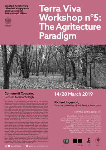 """The Agritecture Paradigm"" | TerraViva WS n°5 | Ferrara | March"