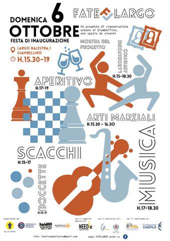 """Fate Largo"" Inauguration Event   Giambellino   Needle Agopuntura Urbana   06.10.2019"
