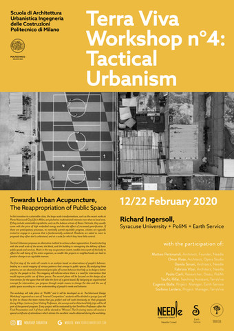 "APPLICATIONS OPEN | ""Tactical Urbanism II"" | PoliMi | 12.02.2020"