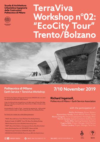 "APPLICATIONS OPEN | ""Eco-City Tour"" | Trento+Bolzano | 7/10.11.19"