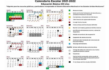 Calendario Oficial Ciclo Escolar 2021-2022