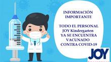 ¡En JOY Kindergarten ya estamos vacunados!