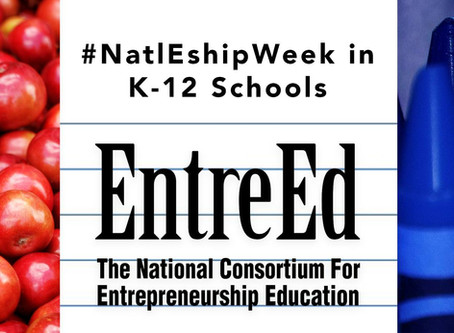 National Entrepreneurship Week 2020 in K-12 Schools