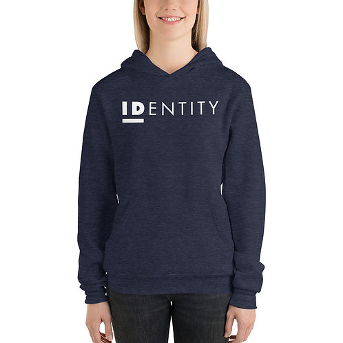 White Identity Unisex Hoodie