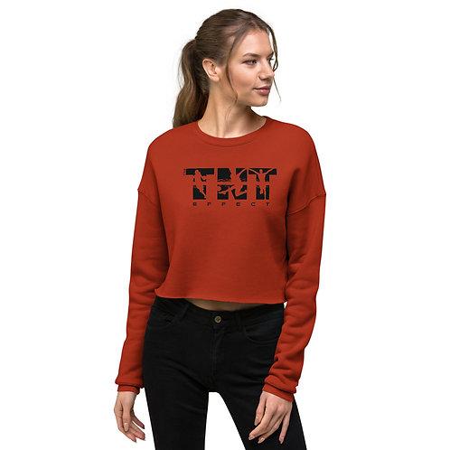 Black Logo Women's Crop Sweatshirt