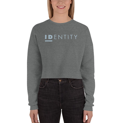 Light Blue Women's Crop Sweatshirt