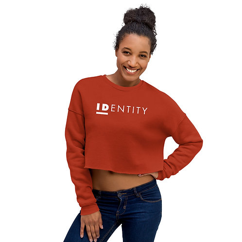 White Identity Women's Crop Sweatshirt