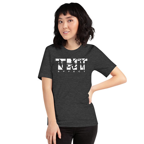 White Logo Short-Sleeve Unisex T-Shirt