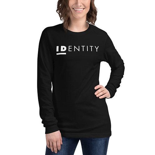 White Identity Unisex Long Sleeve Tee