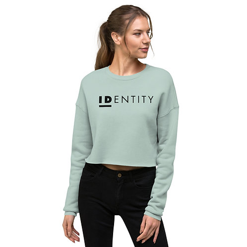Black Identity Women's Crop Sweatshirt
