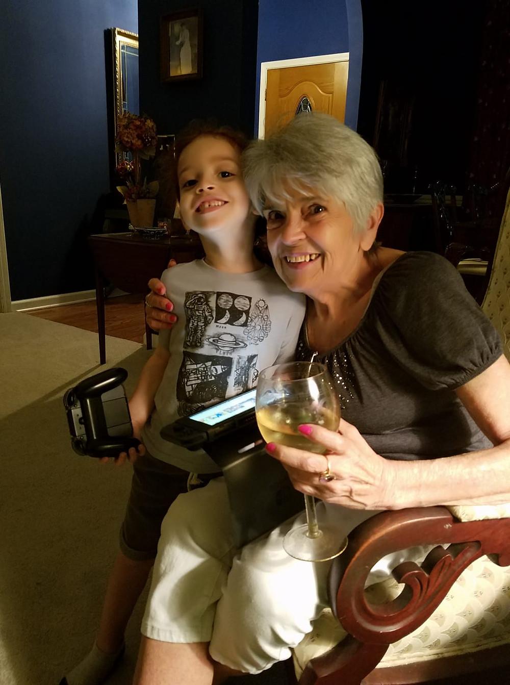 Aunt Janice & my grandson, Vonche, 2017